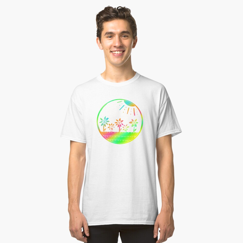 Colorful Floral Art  Design Gift Idea Classic T-Shirt Front