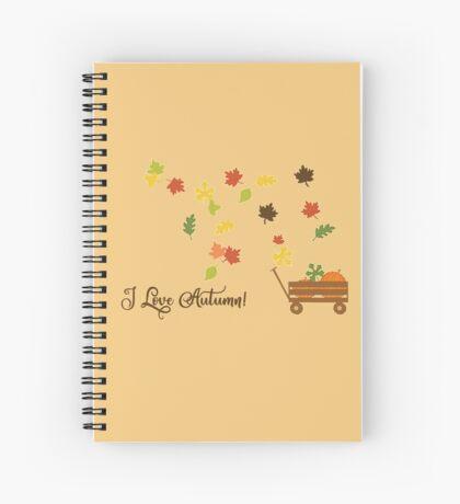 I Love Autumn Spiral Notebook