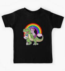 Unicorn Dinosaur T Shirt Girls Gifts Party Rainbow T rex Tee Kinder T-Shirt