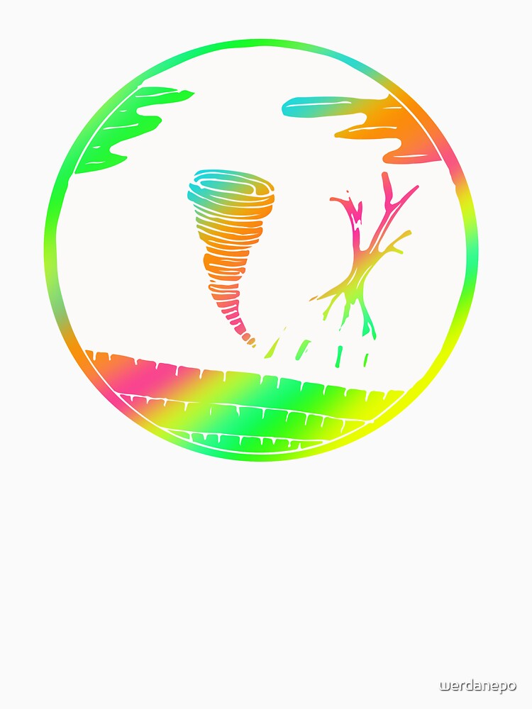 Colorful Tornado Art Design Gift Idea by werdanepo