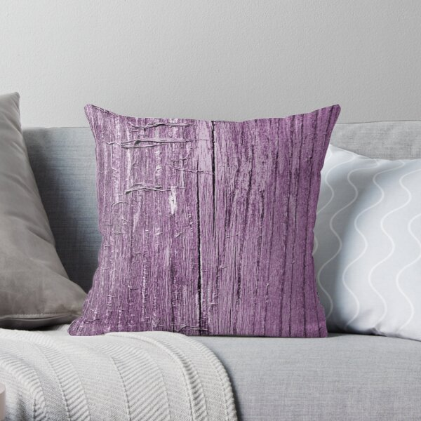Rustic violet Throw Pillow