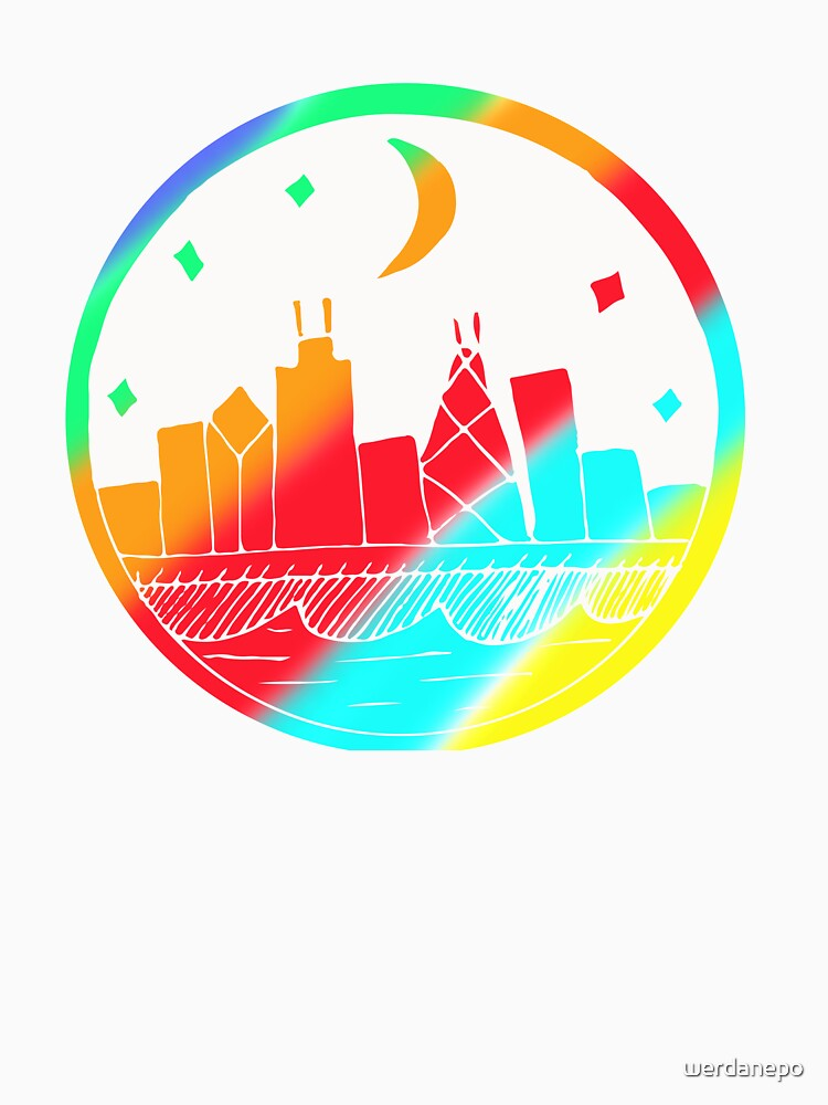 Colorful Building Art Design Gift Idea by werdanepo