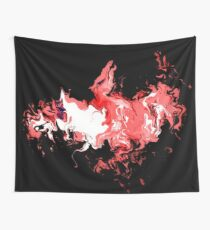 Dragon Red Flames Wall Tapestry