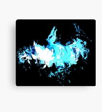 Dragon Blue Flames 2 Canvas Print