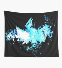 Dragon Blue Flames 2 Wall Tapestry