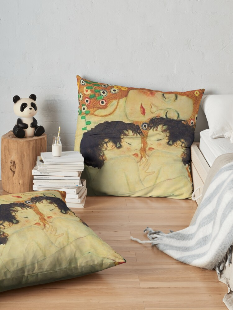 Alternate view of Klimt Three Ages of Woman Mother and Child Floor Pillow