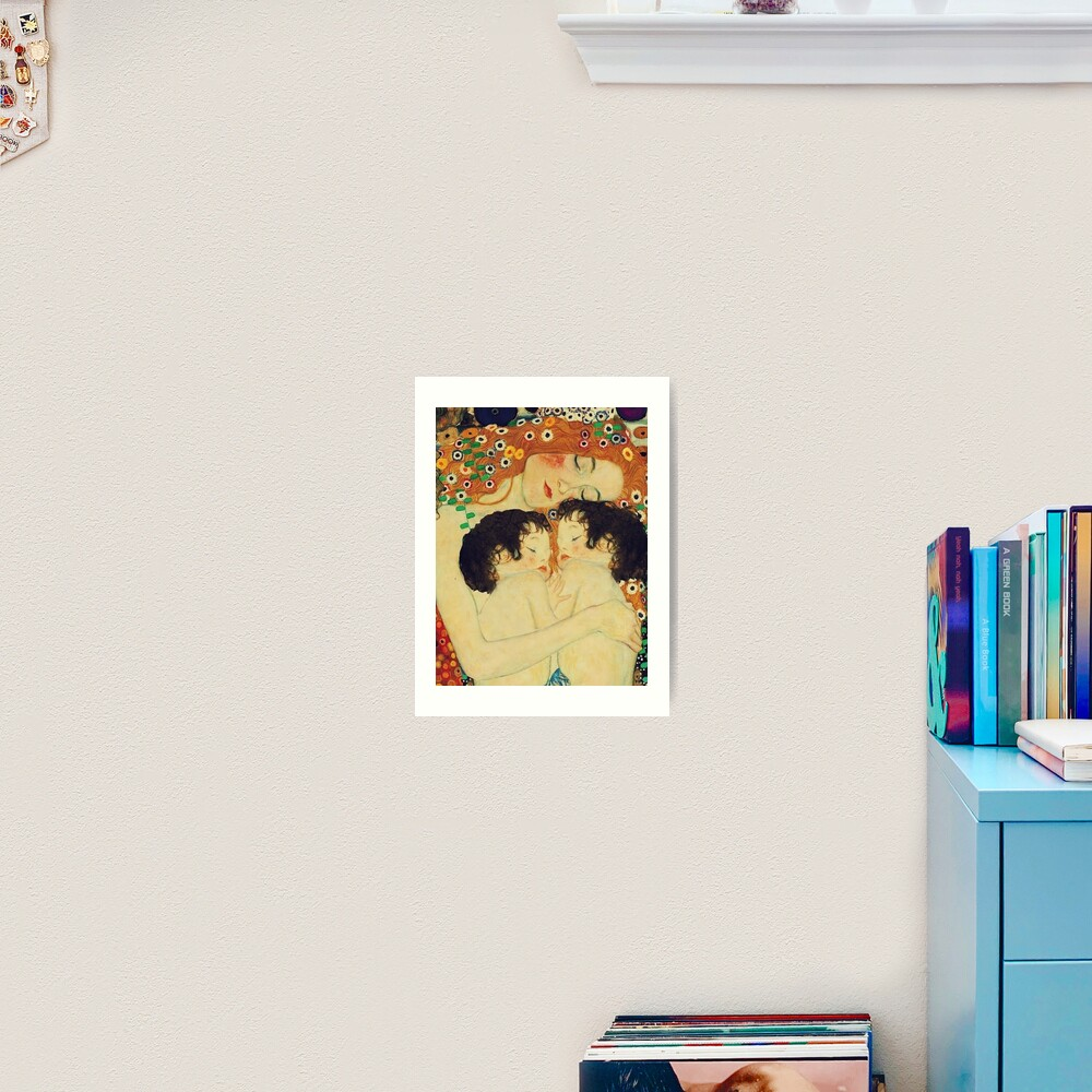 Klimt Three Ages of Woman Mother and Child Art Print