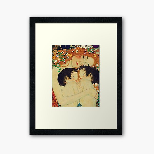Klimt Three Ages of Woman Mother and Child Framed Art Print