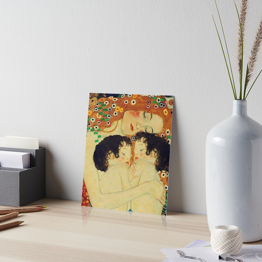 Klimt Three Ages of Woman Mother and Child Art Board Print