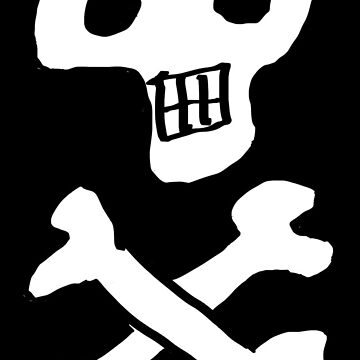 Skull and crossbones pattern in black and white by NigelSutherland