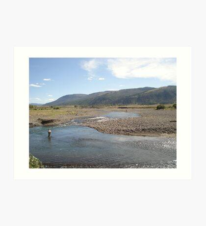 Fly Fisherman - Soda Butte Creek Art Print