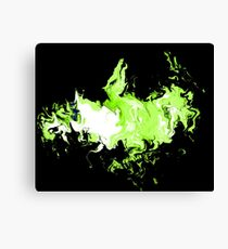 Dragon Green Flames Canvas Print