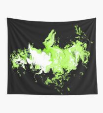 Dragon Green Flames Wall Tapestry