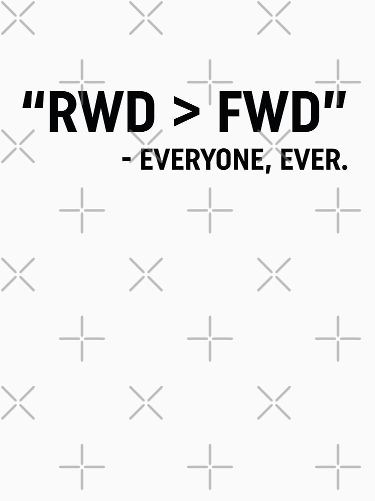 RWD > FWD design  by drivetribe