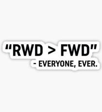 RWD > FWD design  Sticker