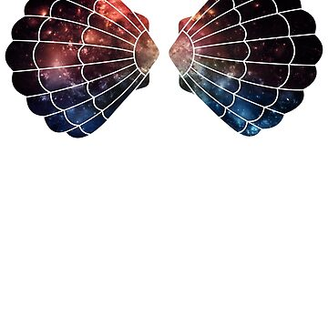 Shell Bra Galaxy Print by bethanyyhelenn
