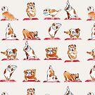 English Bulldog Yoga Watercolor by Huebucket