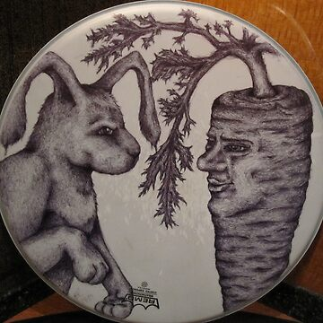 rabbit and carrot man by bethraebel