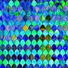 Blue Green Stained Glass by GuyBlank