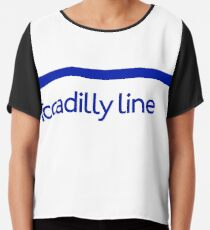 London Underground - Piccadilly Line colour strip sign (roundel) Chiffon Top