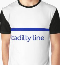 London Underground - Piccadilly Line colour strip sign (roundel) Graphic T-Shirt