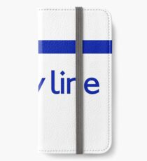 London Underground - Piccadilly Line colour strip sign (roundel) iPhone Wallet/Case/Skin