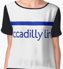 London Underground - Piccadilly Line colour strip sign Chiffon Top