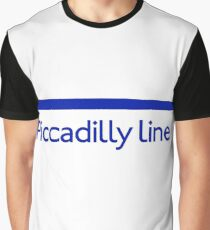 London Underground - Piccadilly Line colour strip sign Graphic T-Shirt