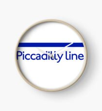 London Underground - Piccadilly Line colour strip sign Clock