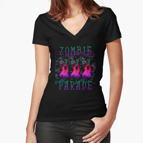 Zombie Parade Fitted V-Neck T-Shirt