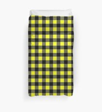 Buffalo plaid in yellow and black. Duvet Cover
