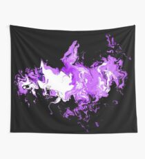 Dragon Purple Flames Wall Tapestry