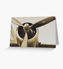 Plane from a Vintage Dream Greeting Card