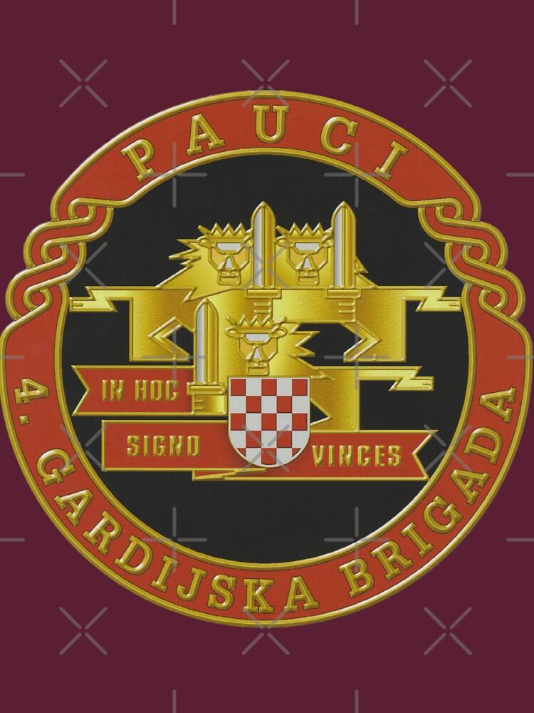 Kroatien Kroatisch 4 Gardijska Brigada Wappen PAUCI von dustydragicevic