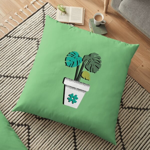 Shaky Plants [Monstera] Floor Pillow