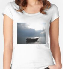 Boat on Sea of Galilee, Israel Women's Fitted Scoop T-Shirt