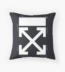 off white cover 2018 Throw Pillow