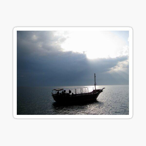 Boat on Sea of Galilee, Israel Sticker