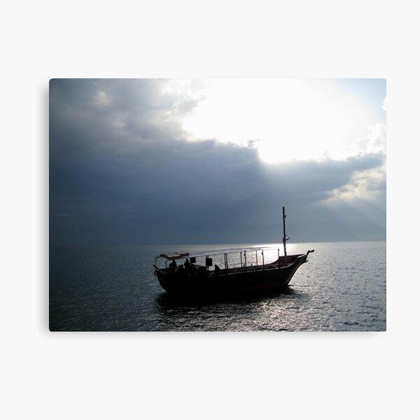 Boat on Sea of Galilee, Israel Canvas Print