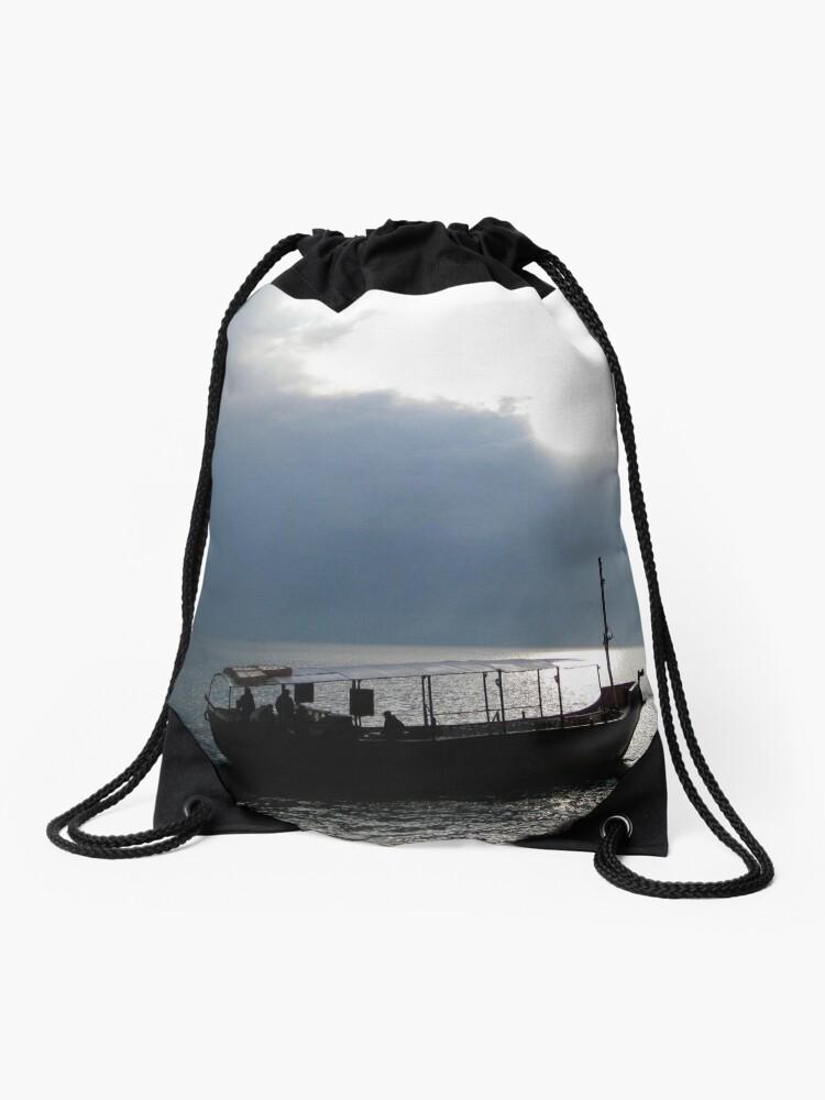 Drawstring Backpack Sailboats Sea Shoulder Bags