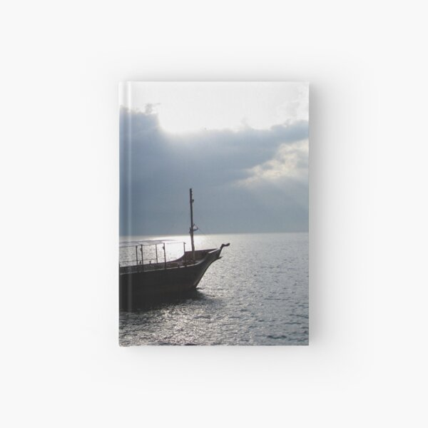 Boat on Sea of Galilee, Israel Hardcover Journal