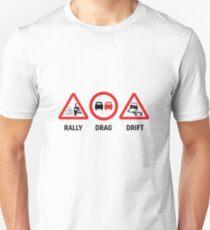 Rally, Drag, Drift sign design Unisex T-Shirt
