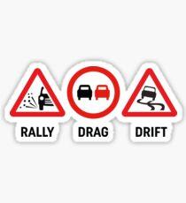 Rally, Drag, Drift sign design Sticker