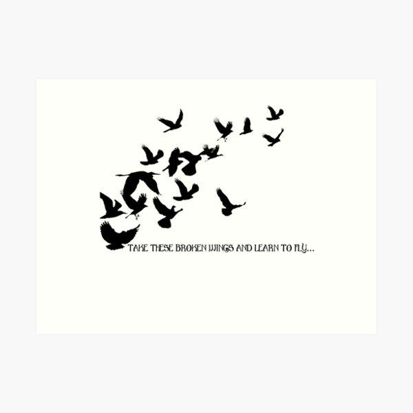 Blackbird, Beatles 2 - Lyrics Art Print