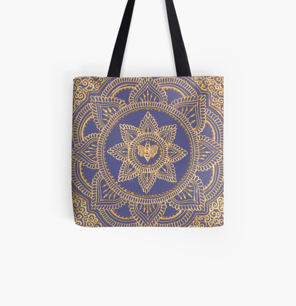 Purple Queen Bee All Over Print Tote Bag