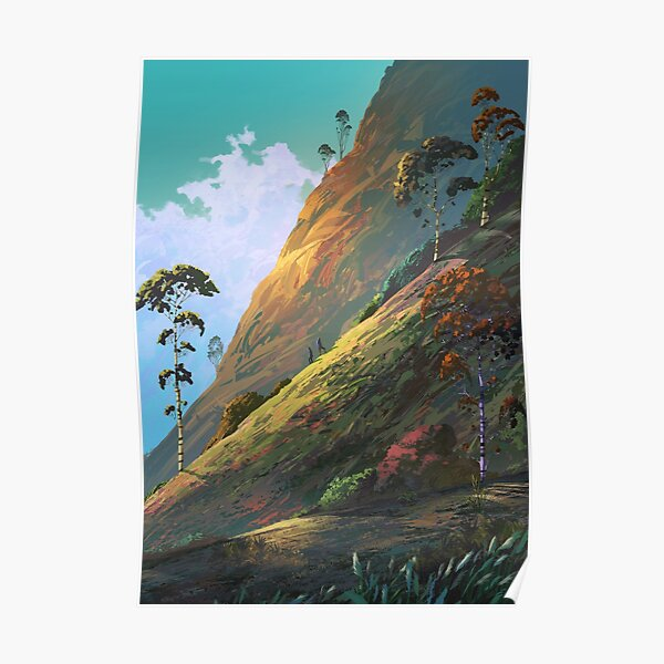 Diagonal horizon Poster