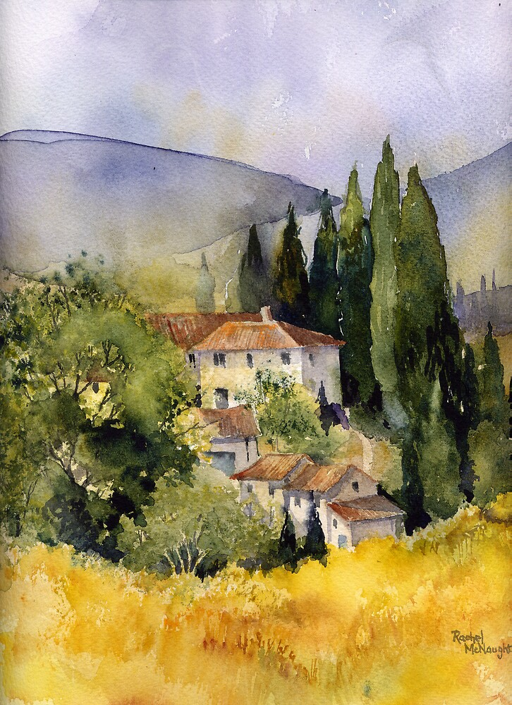 Morning in Tuscany by artbyrachel