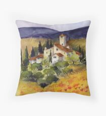 Evening in Tuscany Throw Pillow