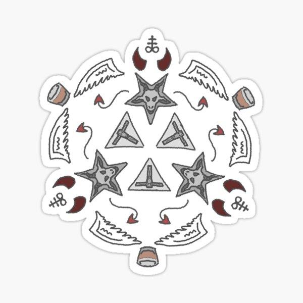 morningstar pattern Sticker