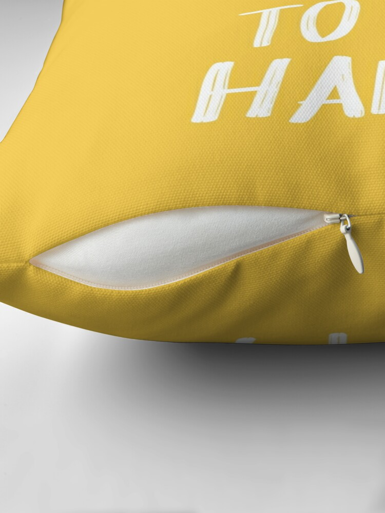 Alternate view of It's a Good Day to Be Happy in Yellow Throw Pillow